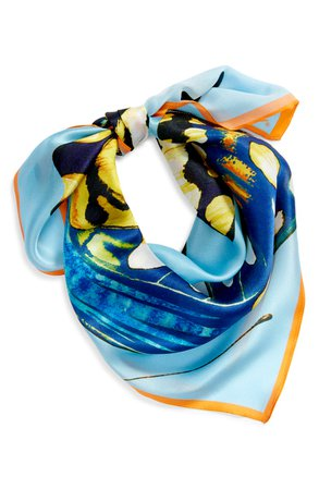 Echo Butterfly Wings Square Silk Scarf | Nordstrom