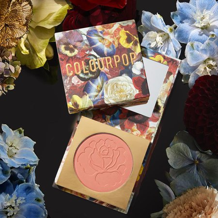 Palatial Rosey Pressed Powder Blush Compact Mirror | ColourPop