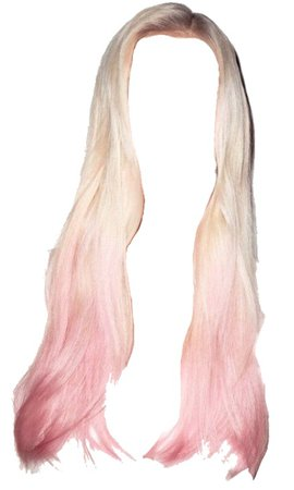 Blonde and pink ombre hair