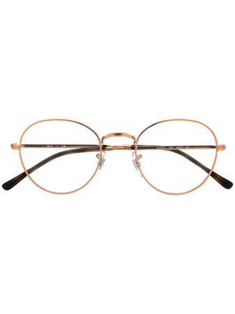 Ray-Ban Round Frame Optical Glasses - Farfetch