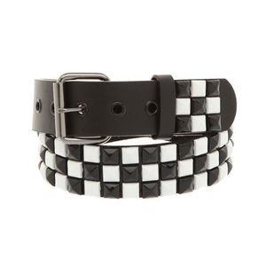 Hot Topic Checkered Pyramid Studded Belt