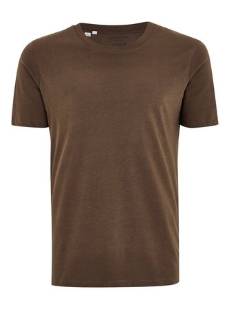 SELECTED HOMME Brown T-Shirt - Shirts & Tanks - Clothing - TOPMAN USA