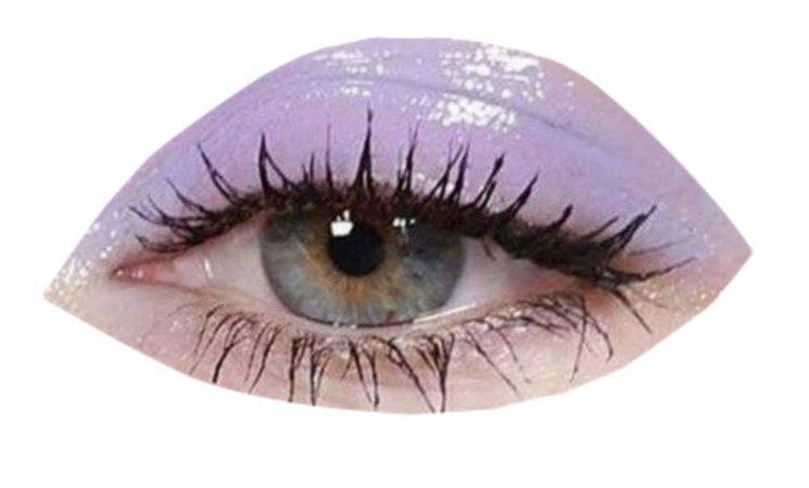 glossy purple eye