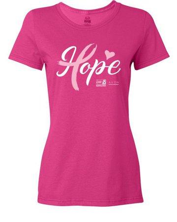 Shop | American Cancer Society Making Strides HopeLadies Short Sleeve T-Shirt