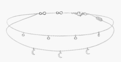 "Silver Choker ""moon"" necklace"