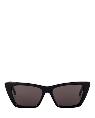 Saint Laurent Mica Cat Eye Sunglasses | INTERMIX®