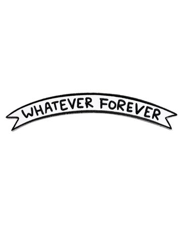 Whatever Forever Large Banner Patch – Strange Ways