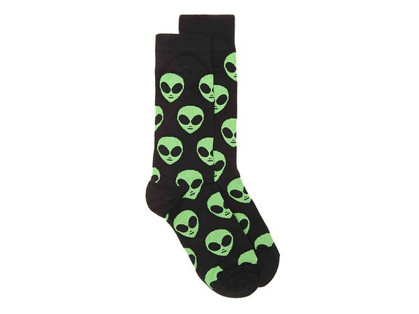 Socksmith Aliens Men's Crew Socks Men's Handbags & Accessories | DSW