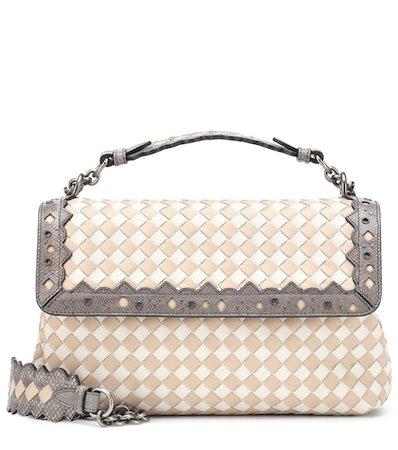 Olimpia Checker leather shoulder bag