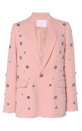 Embellished Crepe Blazer by Costarellos | Moda Operandi