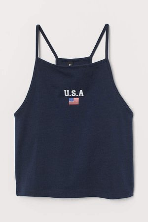 Short Tank Top - Blue