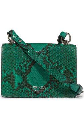 Prada Genuine Python Flap Shoulder Bag | Nordstrom