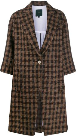 check print coat