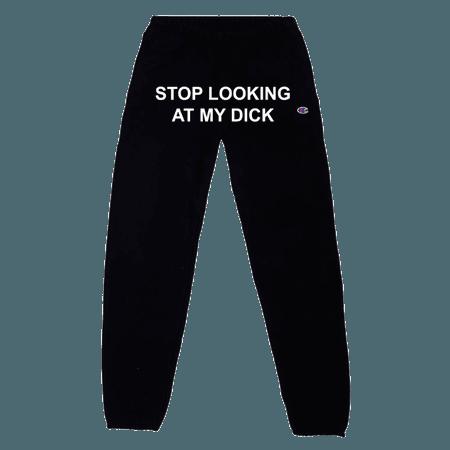Black Champion Sweatpants