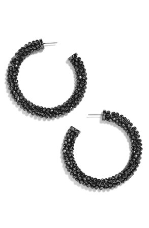 BaubleBar Faceted Beaded Hoop Earrings | Nordstrom