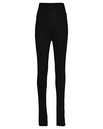 Galvan Rhea Flared Rib Knit Pants | INTERMIX®