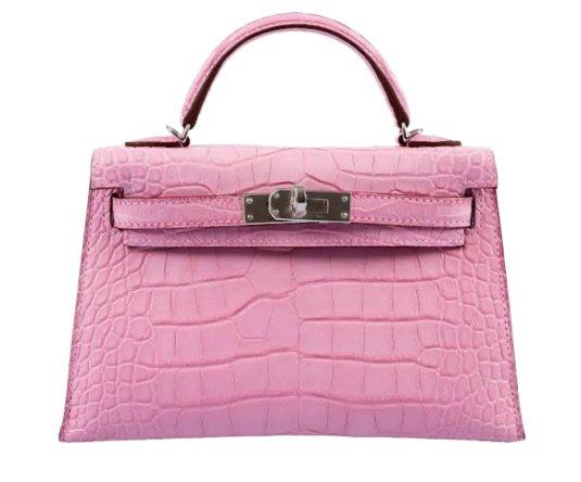 hermes pink mini Kelly bag