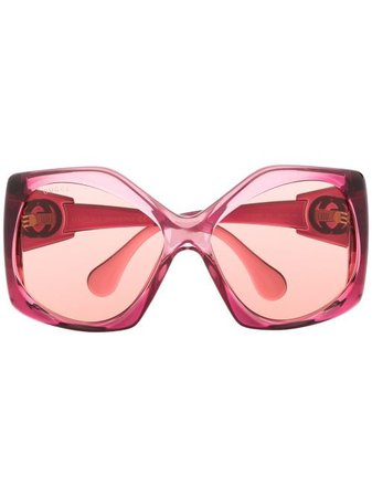 Gucci Eyewear angular-frame oversized sunglasses - Farfetch