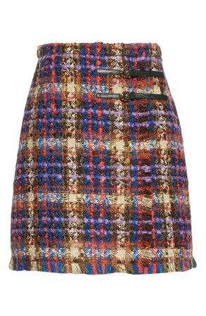 Gucci Belted Wool Blend Tweed Miniskirt   Nordstrom
