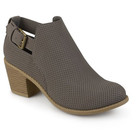 grey Brinley Co. - Women's Laser Dot Buckle Booties - Walmart.com - Walmart.com