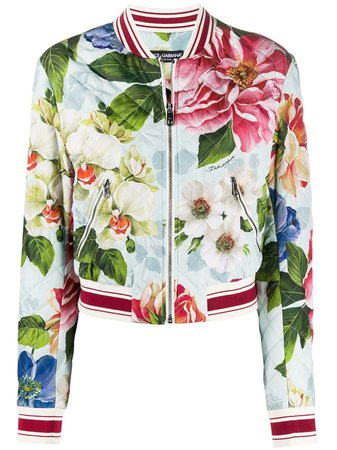 Dolce & Gabbana Floral Print Bomber Jacket Ss20 | Farfetch.com