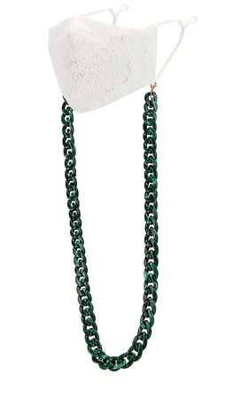 8 Other Reasons Chain Mask Holder in Green | REVOLVE