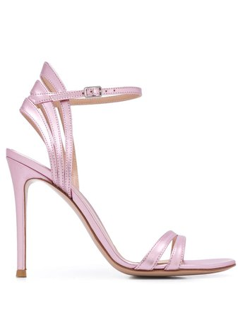 Gianvito Rossi satin sandals - FARFETCH