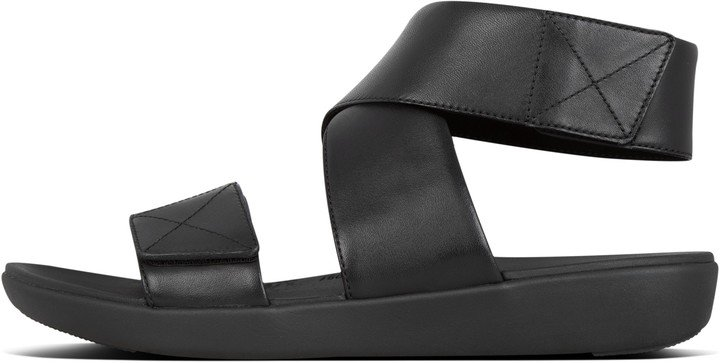 Carin Leather Back-Strap Sandals