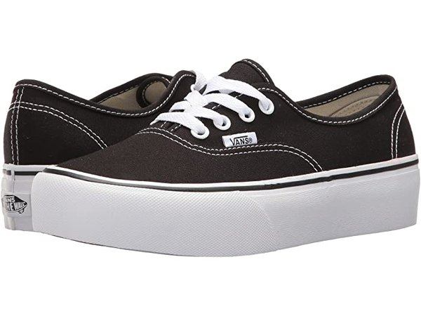 Vans Authentic Platform 2.0 Black | Zappos.com