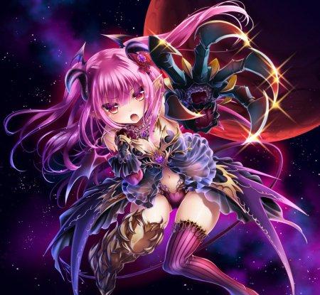 anime purple haired demon - Google Search