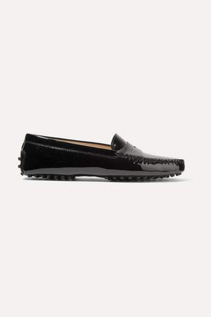 Gommino Patent-leather Loafers - Black