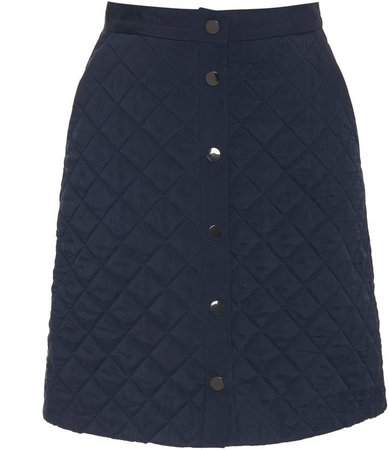 Quilted Cupro Mini Skirt