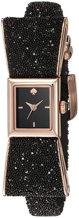 Amazon.com: kate spade new york Women's Kenmare Stainless Steel Quartz Watch with Leather Calfskin Strap, Black, 8 (Model: KSW1185): Kate Spade: Clothing