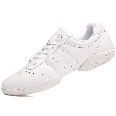 Amazon.com | Smapavic Cheer Shoes Women White Cheerleading Dance Shoes Fashion Sneakers Tennis Athletic Sport Training Shoes for Gilrs White 8 B (M) US | Team Sports