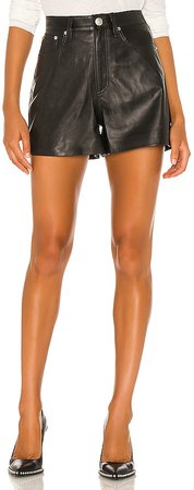 Super High Rise Leather Short