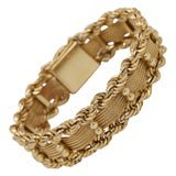Vintage Rope Gold Bracelet For Sale at 1stDibs