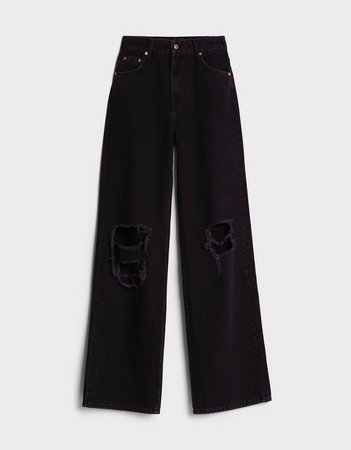 '90s Ripped flare jeans - Best Sellers - Woman | Bershka