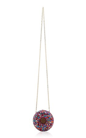 Confetti Donut Crystal-Embellished Clutch by Judith Leiber Couture | Moda Operandi
