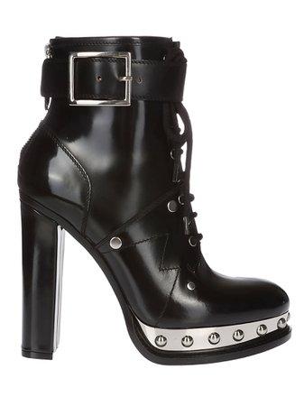 Alexander McQueen Stud Details Boots