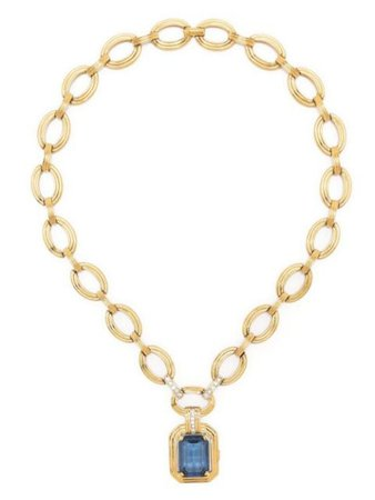 Christian Dior pre-owned Gem Pendant chain-link Necklace - Farfetch