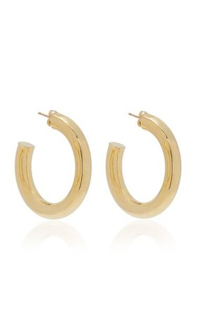 Dylan Gold-Plated Hoop Earrings By Young Frankk | Moda Operandi