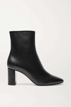 Black Lou leather ankle boots | SAINT LAURENT | NET-A-PORTER