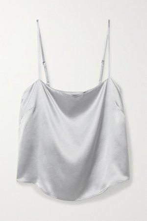 Silver Silk camisole | Fleur du Mal | NET-A-PORTER