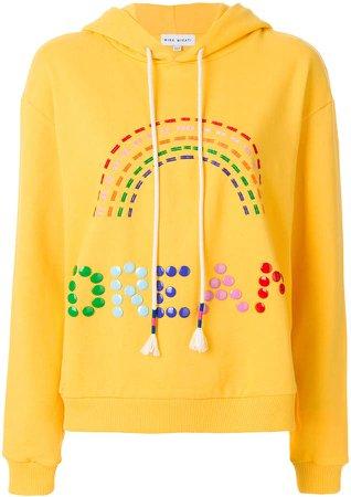 rainbow embroidered hoodie