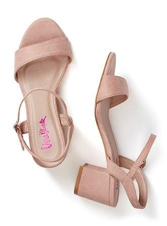 La sandale à talon bloc suédée | Simons | Magasinez des Chaussures à Talons hauts en ligne | Simons