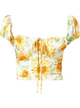 BEC + BRIDGE Francine floral-print Silk Top - Farfetch