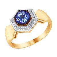 Серьги из комбинированного золота с бриллиантами и танзанитами SOKOLOV – купить в официальном интернет-магазине, доставка по Москве и РФ, цены и отзывы, арт. 6024053