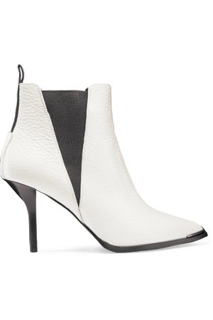 White Jemma textured-leather ankle boots | Acne Studios | NET-A-PORTER