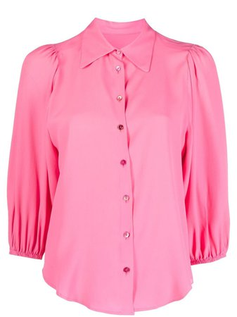 Shop pink Merci three-quarter sleeve blouse with Express Delivery - Farfetch