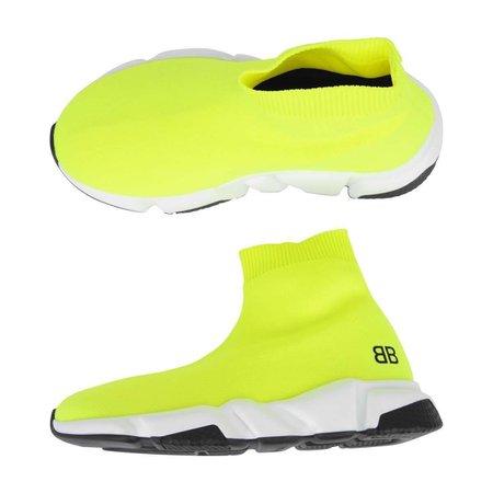 Balenciaga Neon Yellow Speed Trainers - Shoes - Girl